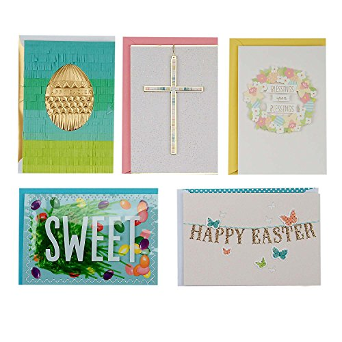 Hallmark Signature Easter Greeting Card Assortment (5 Card Designs and 5 Envelopes, Happy Easter (Easter Icons)