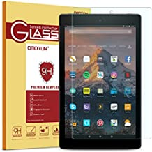 Fire HD 10 Screen Protector, OMOTON Tempered Glass Screen Protector for Fire HD 10 with [9H Hardness] [Crystal Clear] [Scratch Resist] [Bubble Free]
