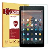 Fire HD 10 / Fire HD 10 Kids Edition Screen Protector, OMOTON 9H Hardness HD Tempered Glass Screen Protector for Fire HD 10 / Fire HD 10 Kids Edition