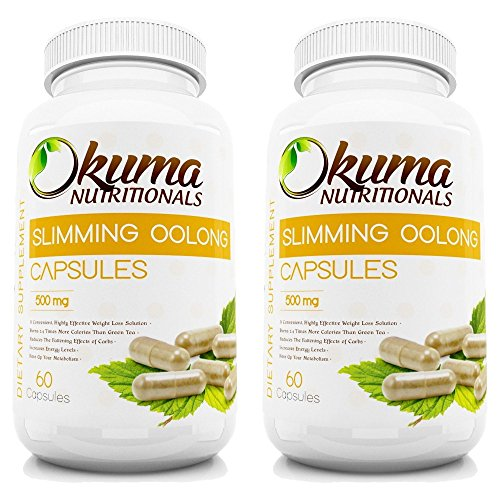 Slimming Oolong Tea Capsules - HIGH CONCENTRATION for Weight Loss, Diet, Detox, and Anti-Acne - Supress Your Appetite Naturally - 100% Pure and All-Natural Oolong - 2 Month Supply (120 capsules) by Slim Tea