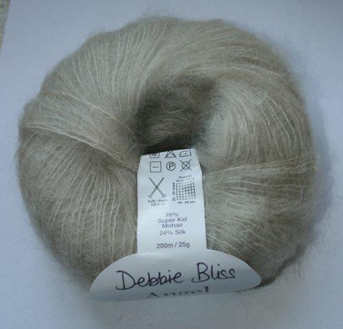 Debbie Bliss Angel, 05 - Stone - Kid Mohair Yarn