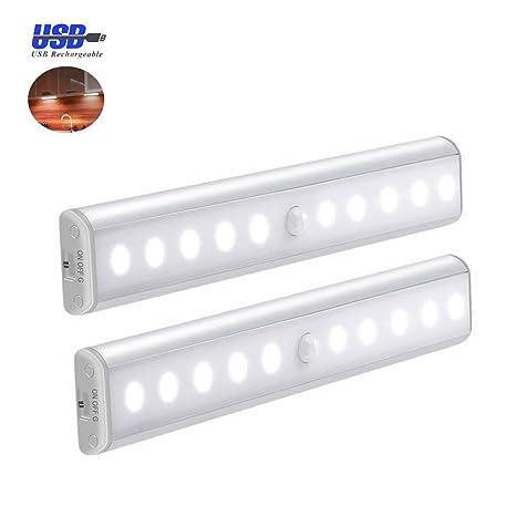 [Versión mejorada] 2Sets / Pack de la luz del armario, luces del sensor