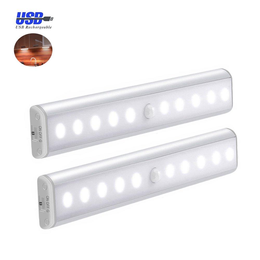 cupboard lighting led. Motion Sensor Wardrobe Light ,Cupboard LED Lamp , USB Rechargeable Cabinet Lights Lamps 10LED YIGER Cupboard Lighting Led !