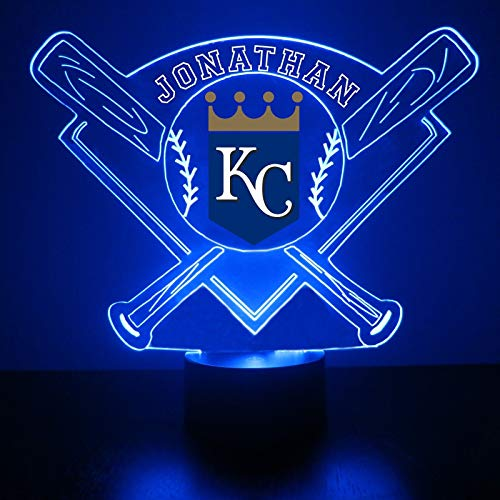 Kansas City Royals Baseball LED Night Light Customized/Personalized Gift - Featuring Licensed ()