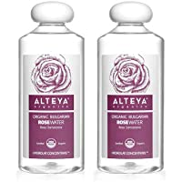 Alteya Organics Rose Water, Organic Facial Toner, 34 Fl Oz/ 2x17 Fl Oz Bundle, Pure Bulgarian Rosa Damascena Flower…