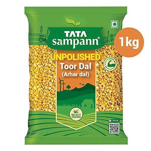Tata Sampann Unpolished Toor Dal/Arhar Dal, 1kg 2