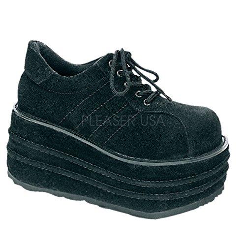 Demonia Tempo-08 Män Plattform Sneaker Black Veggie Mocka
