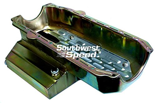 (NEW SOUTHWEST SPEED RACING SMALL BLOCK CHEVY OIL PAN, 7 QUART 7