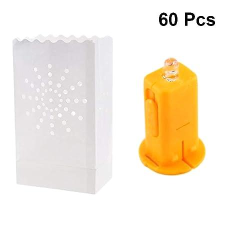 Uonlytech - 60 bolsas de papel hueco para velas de té con ...