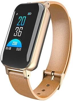 LOUQZN Smart Dual Headphone Fitness Bracelet T89 Heart Rate Sport ...
