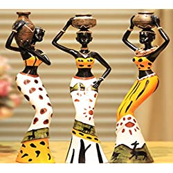 African style sculpturel home decoration accessories statue collection 3 PCS/Set K0225