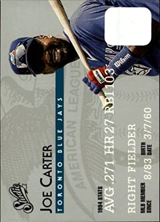 Amazon.com: 1995 Donruss Studio Baseball Card #14 Joe Carter Mint: Collectibles & Fine Art