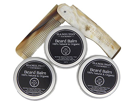 3 Beard Balm Kit & Real Horn Natural Org - Untangling Balm Shopping Results