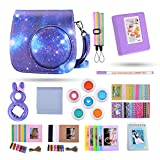 Kaka 13 in 1 Instax Mini 9 Camera Accessories for FujiFilm Instax Mini 9 8 8+ Camera with Mini 9 Case/Album/Selfie Lens/Filters/Wall Hang Frames/Film Frames/Border Stickers/Pen(Happy Galaxy)