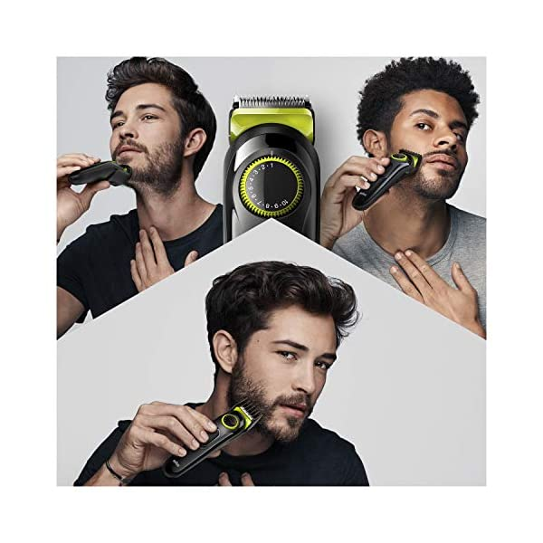 Braun Beard Trimmer BT3221 and Hair Clipper for Men, Lifetime Sharp Blades, 20 Length Settings, 50mins cordless trimming… 2021 July Precision dial for 20 length settings in 0.5 mm step sizes for an effortless trimming experience Lifetime Sharp Blades for even beard trimming and hair clipping Create accurate lines and edges on neck and cheek with the main beard trimmer head