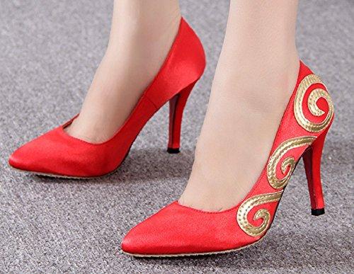 Corona Rossa Tallone Pompe Scarpa Festa Nuziale Cinese Delle Tianrui Cheongsam Delle Vestito 14RxwqFRd