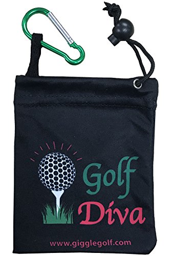 Giggle Golf Microfiber Golf Diva Tee Bag with Four Wood Tees