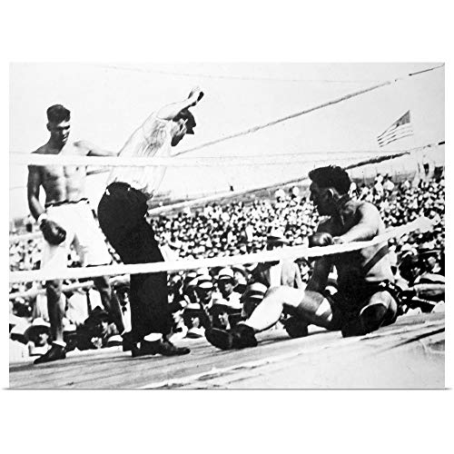GREATBIGCANVAS Poster Print Entitled Jack Dempsey (1895-1983), American Boxer by - Gloves Ohio Heavyweight