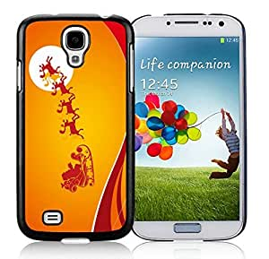 Individualization Samsung S4 TPU Protective Skin Cover Merry Christmas Black Samsung Galaxy S4 i9500 Case 60 by icecream design