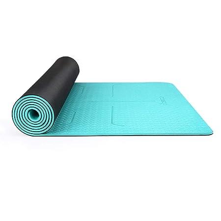 SHWSM Estera de Yoga 6 mm Caucho Natural TPE Estera de Yoga ...
