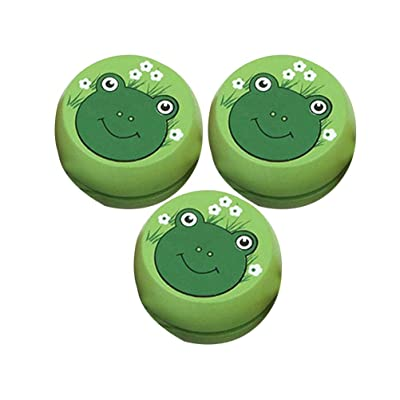 NUOBESTY 3pcs Wooden Yoyo Toys Frog Shape Kid YoYo Ball Wood Kid Yoyo Toys Thread Control Toys for Kids Boys Gifts: Toys & Games