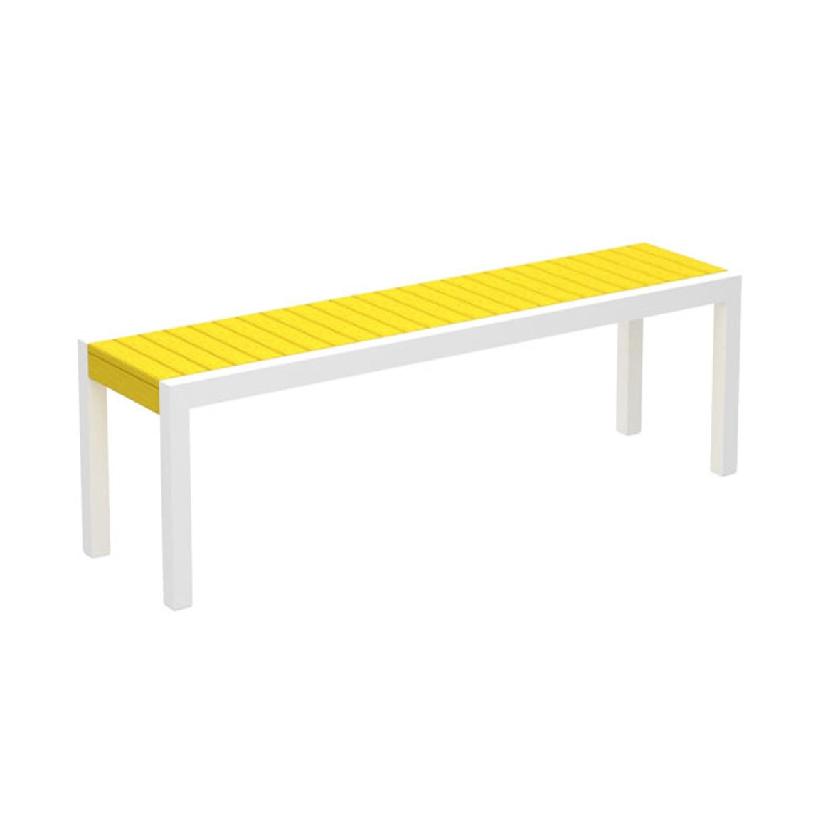 68'' MOD Bench - Recycled HDPE lumber and Aluminum frame