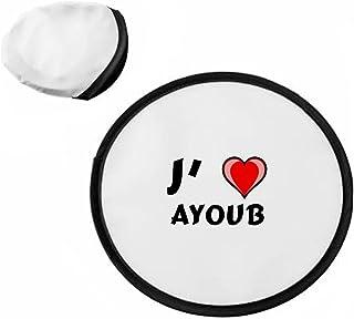 Frisbee personnalisé avec nom: Ayoub (Noms/Prénoms) SHOPZEUS