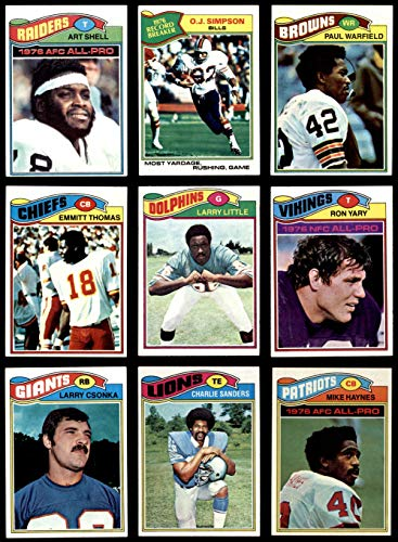 1977 topps football complete set - 7