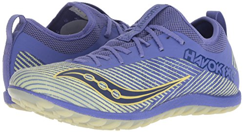 Saucony Women's Havok XC2 Flat Track Shoe Purple/Yellow 5.5 M US by Saucony (Image #5)