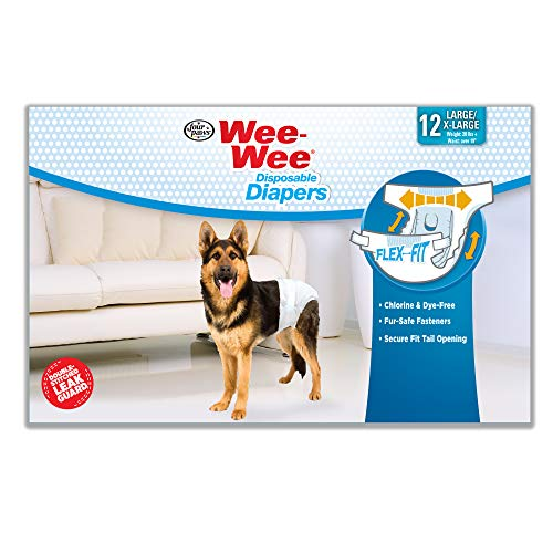 - Wee-Wee Products Disposable Dog Diapers (12 Pack), Large/X-Large