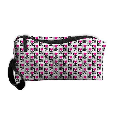 I Love Hip Hop 3D Printing Zipper Closure Cosmetic Makeup Bag Pencil Pen Case Travel Bag Tote For - Title Sunglasses 9