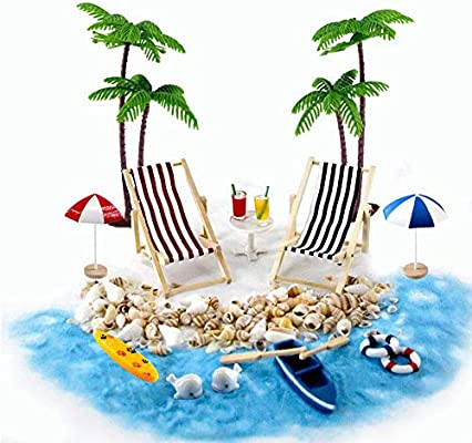 Beach Zen Garden Accessories Mini Desktop Sandbox Decor 16