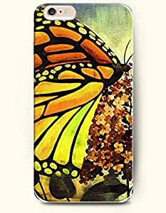 OFFIT iPhone 6 Plus Case 5.5 Inches Butterfly and Small Tree
