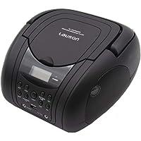 Lauson Lecteur CD / MP3, radio FM / portable stéréo PLL, lecteur USB, écran LCD, couleur noire