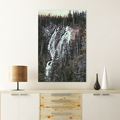 Landscape Waterfall on The Cliff in The Forest