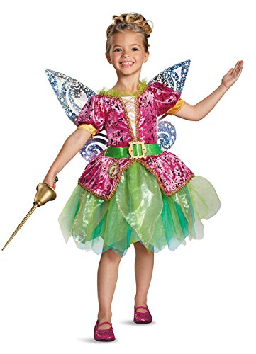 Disguise Disney's The Pirate Fairy Pirate Tinkerbell Deluxe Girls Costume, Large/10-12 ()