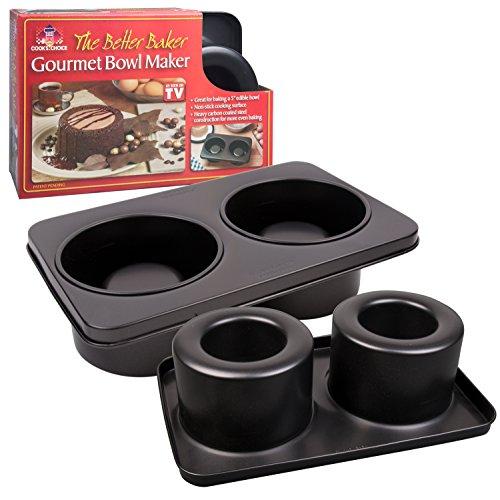 The Original Better Baker Edible Food Bowl Maker- Bake 2 Five Inch Dessert & Dinner Bowls or Mini Muffins (Edible Bowl)