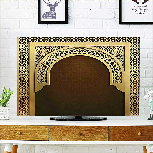 - Leighhome Front Flip Top Middle Ramadan Greeting Scroll Arch Figure Celebration Holy Eid Theme Front Flip Top W36 x H60 INCH/TV 65