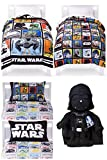 Star Wars Classic 5 Piece Twin Bed in a Bag with Darth Vader Pillow Buddy