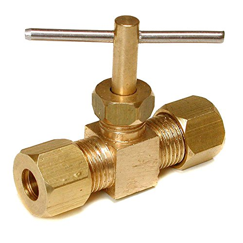 Dial 94045 Straight Compression Needle/In-Line Water Shut-Off Valve ()
