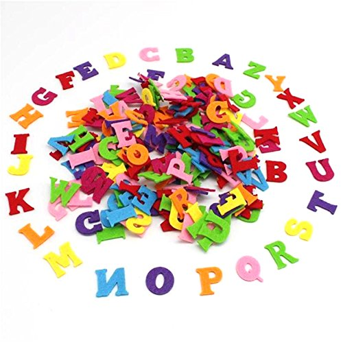 Capital Letter English Alphabet Polyester Fabrics Scrapbook Sew-on Cloth Applique Craft Patches DIY (On Sew Letters)