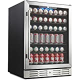 "Kalamera 24"" Beverage Refrigerator 175 Can Built-in or Freestanding Single Zone Touch Control and Temperature..."