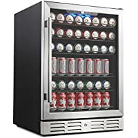 Kalamera 24 Beverage Refrigerator 175 Can Built-in or Freestanding Single Zone Touch Control