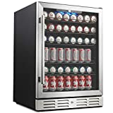 """Kalamera 24"""" Beverage Refrigerator 175 Can Built-in or Freestanding Single Zone Touch Control"""