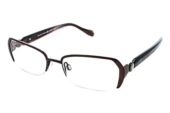 Superb Max Studio 118M Womens Eyeglass Frames   Cognac