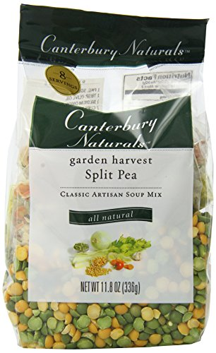 Canterbury Naturals Garden Harvest Split Pea Classic Artisan Soup Mix, Organic, 11.8 Ounce Bags (Pack of 6)