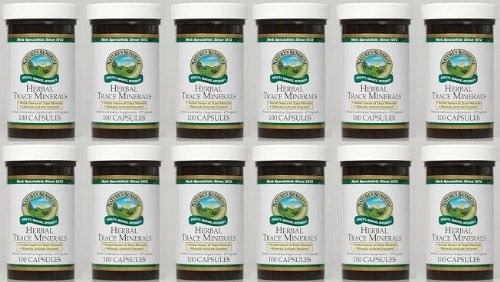 Naturessunshine Herbal Trace Minerals Glandular System Support 100 Capsules (Pack of 12) by Nature's Sunshine