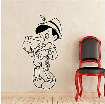 58X100cm Pinocho Tatuajes de Pared Caricaturas de Vinilo Carácter ...