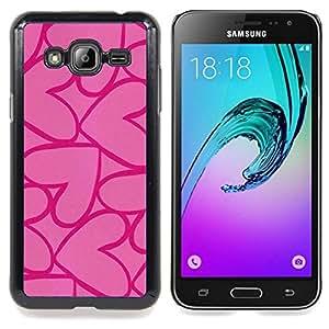 - hearts pink purple love valentines - - Modelo de la piel protectora de la cubierta del caso FOR Samsung Galaxy J3 RetroCandy