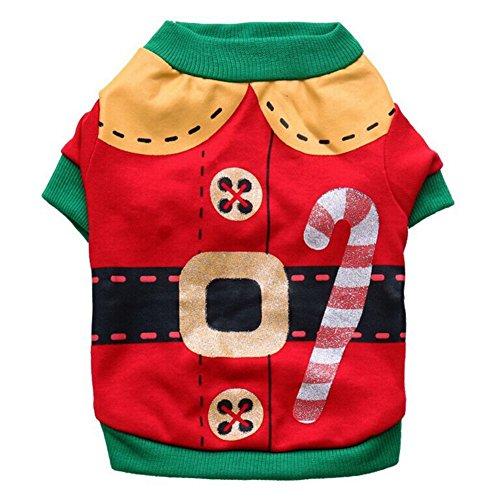 Tank Costumes (PanDaDa Christmas Small Pet Clothes Dog Clothes Dog Shirt Clothes for Pet Puppy Tee shirts Dogs Costumes Cat Tank Top Vest)